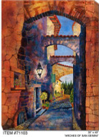 Arches of San Gemini Canvas Wall Art