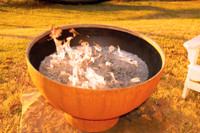 Crater Gas Fire Pit by Fire Pit Art