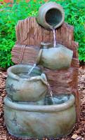 Sunnydaze Three Jugs Outdoor Fountain