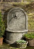 Stone Lion Wall Fountain by Campania International