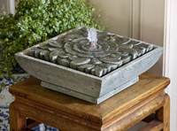 Artifact Cast Stone Tabletop Fountain by Campania International