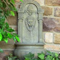 Sunnydaze Leo Solar Outdoor Wall Fountain