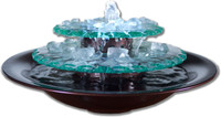 Bluworld Moonlight Glass Tabletop Fountain