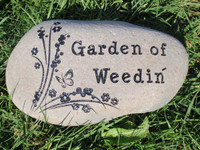 Custom Engraved Small Garden Stone - 5-7""