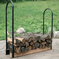 Sunnydaze Steel Adjustable Firewood Log Rack Bracket Kit- Adjusts Up to 16 Feet Wide