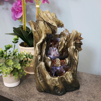 Cascading Caves Waterfall Tabletop Fountain with LED Lights