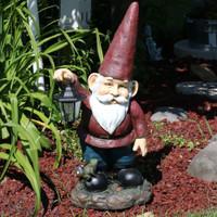 Sammy the Solar Lantern Gnome, 29 Inch Tall by Sunnydaze Decor