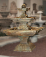 Henri Studio Cast Stone Tall Equinox Water Fountain