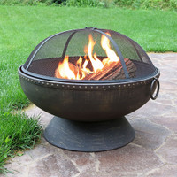 "30"" Firebowl Fire Pit with Handles"