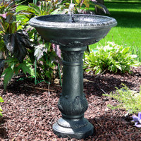 Oasis Solar-on-Demand Bird Bath Water Fountain