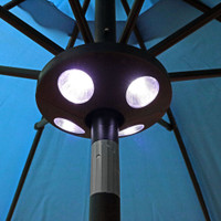 Sunnydaze Battery Operated Patio Umbrella Pole Light, 4 LED Lights