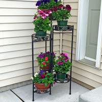 6-Tier Plant Stand on Patio