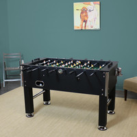 55 Inch Foosball Game Table with Drink Holders