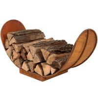 3' Rustic Outdoor Firewood Log Rack