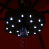 Sunnydaze Patio Umbrella Light, 18 LEDs