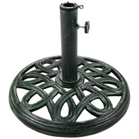 Sunnydaze Round Cast Iron Outdoor Patio Umbrella Base Stand, 17-Inch