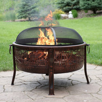 Northwoods Fishing Fire Pit