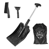 CASL Brands 3-in-1 Snow Removal Kit for Cars and Trucks in Carrying Bag with Scraper, Shovel and Brush