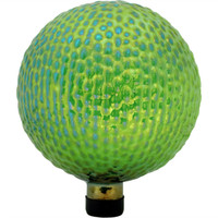 View of Green Textured Surface Gazing Globe Ball