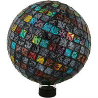 View of the Multi-Colored Tiled Mosaic Gazing Globe Ball