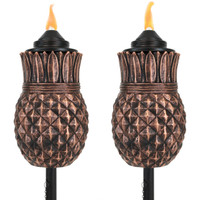 Pineapple Outdoor Torches, Set of 2