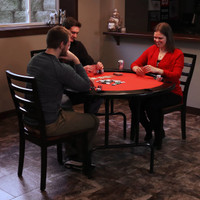 Round Poker Table for 6 Players