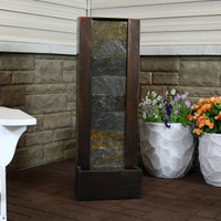 Stonewall Slate Outdoor Waterfall Fountain