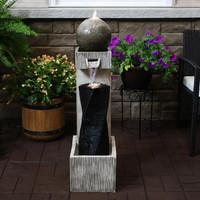 Modern Vogue Contemporary Outdoor Fountain