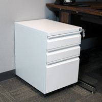 Rolling Mobile File Cabinet with Keyed Lock