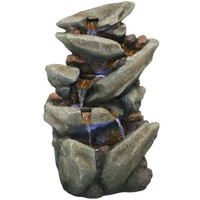 Streaming Tilted Rocks Outdoor Water Fountain