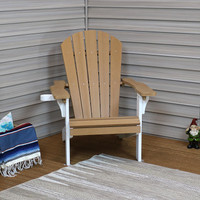 Sunnydaze All-Weather Adirondack Patio Chair with Two-Tone Faux Wood Design