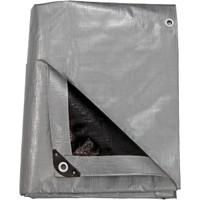 Heavy-Duty Multi-Purpose Waterproof Gray-Black Tarp, Folded Up