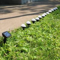 Sunnydaze White Solar LED Landscape Path Lights, 12 Lights, 146-Inch Long