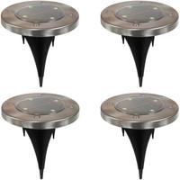 Outdoor Solar LED Stainless Steel Disk Lights