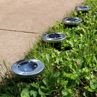 Outdoor Solar LED Stainless Steel Disk Lights