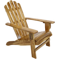 Rustic Wooden Adirondack Chair with Light Charred Finish