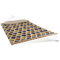 2 Person Quilted Fabric Hammock with Spreader Bars