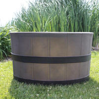 TankTop Covers Whiskey Barrel 31-Inch Flat Top Septic Tank Lid Enclosure