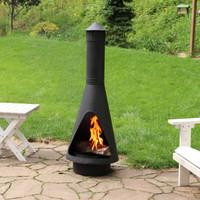 Open Access Outdoor Wood Burning Steel Chiminea