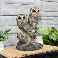 Sunnydaze Watchful Owls Outdoor Garden Statue, 13-Inch Lifestyle