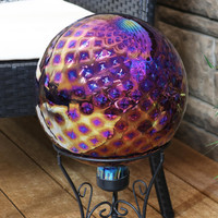 Sunnydaze Jewel Tone Trellis Outdoor Garden Gazing Globe, 10-Inch Lifestyle