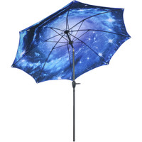 Blue Starry Galaxy Patio Umbrella