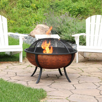 Sunnydaze Large Copper Finished Outdoor Fire Pit Bowl