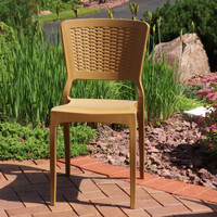 Sunnydaze Hewitt Plastic Patio Outdoor Dining Chair