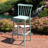 Sunnydaze Woodway All-Weather Plastic Patio Barstool Seat - Single