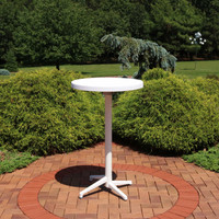 Sunnydaze All-Weather Round Plastic Patio Bar Table