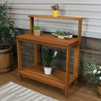Meranti Wood Outdoor Potting Bench