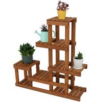 Meranti Wood Multi-Tiered Indoor/Outdoor Plant Stand