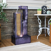 Cascading Tower Outdoor Metal Fountain
