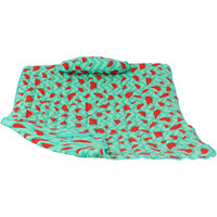Sunnydaze Cotton Quilted Hammock Pad and Pillow - Watermelon Chevron
